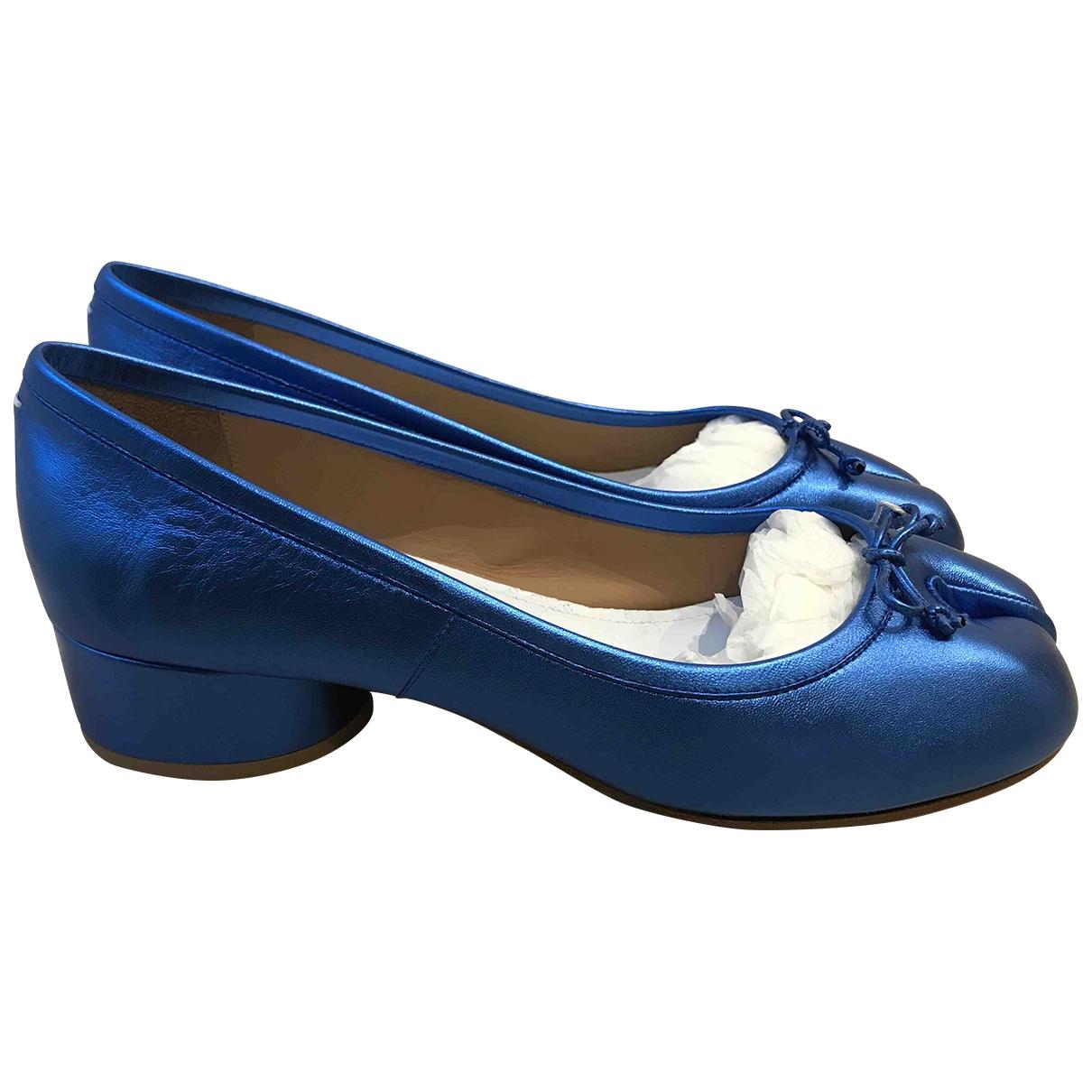 Maison Martin Margiela - Escarpins   pour femme en cuir - bleu