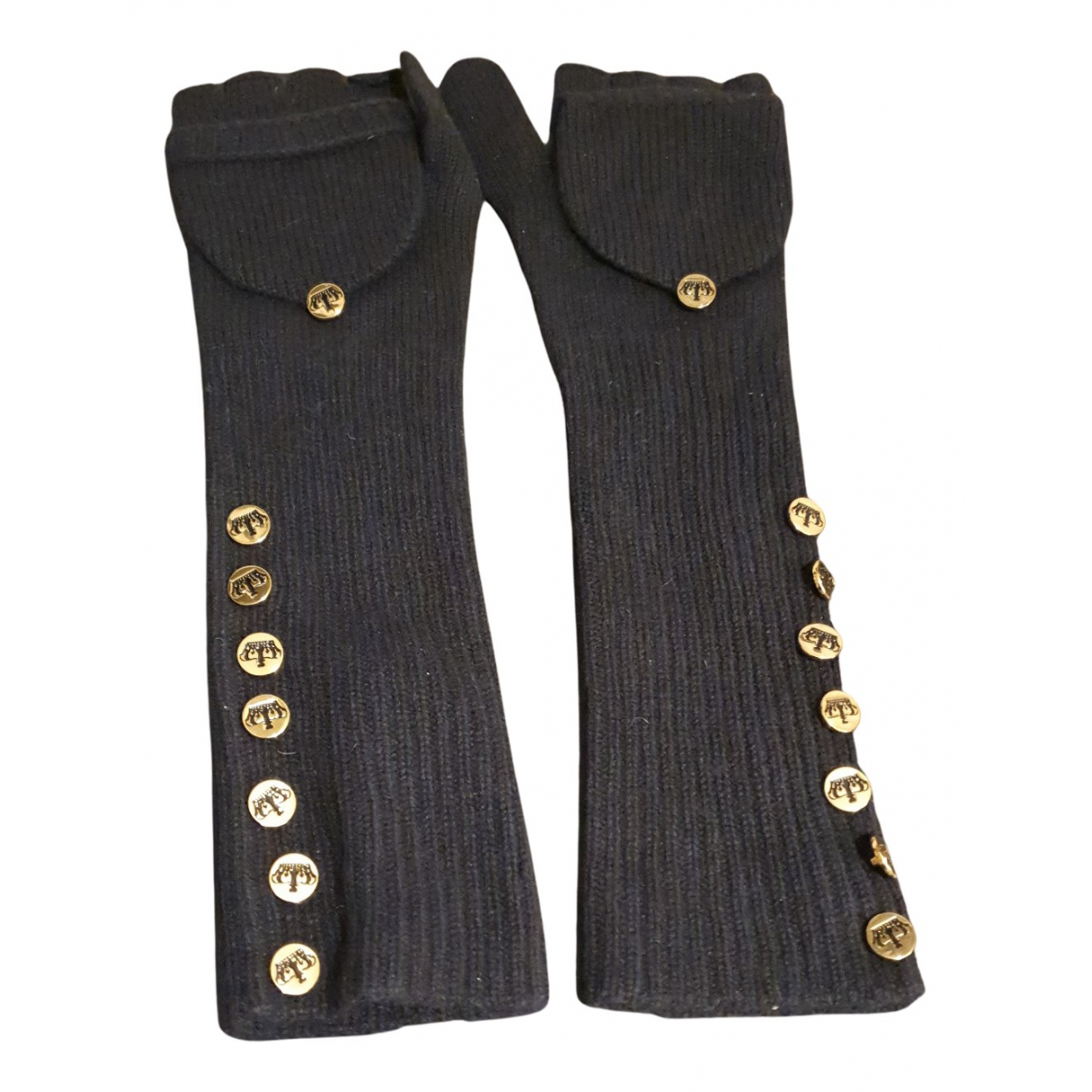 Juicy Couture N Black Wool Gloves for Women 15 cm