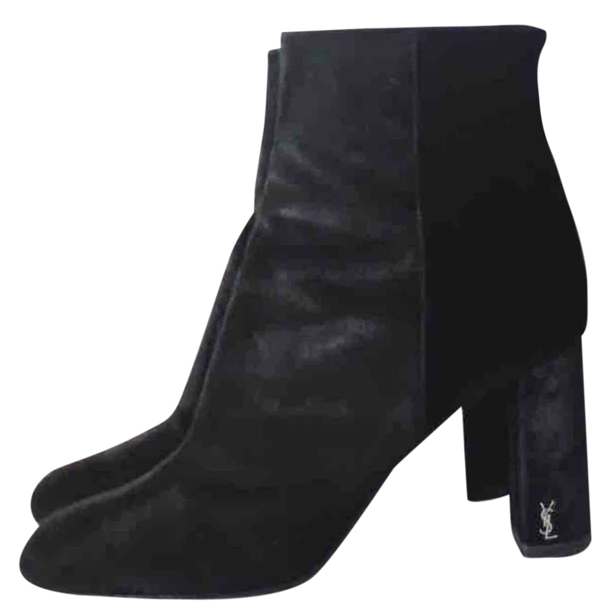 Saint Laurent Loulou Black Suede Ankle boots for Women 38 EU