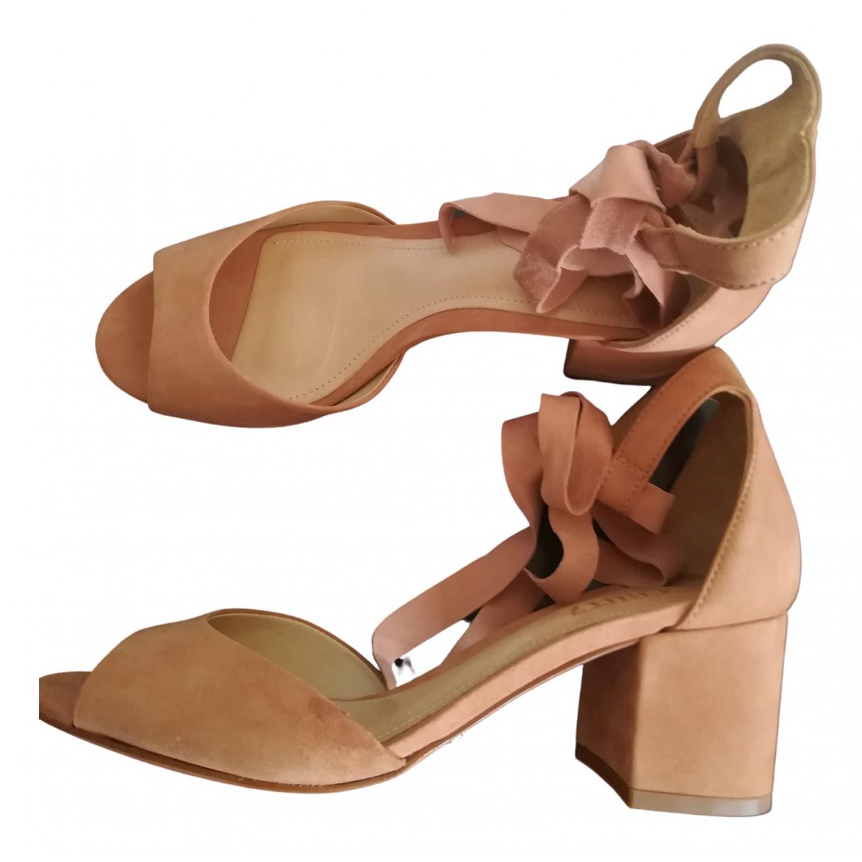 Schutz \N Beige Suede Sandals for Women 39 EU
