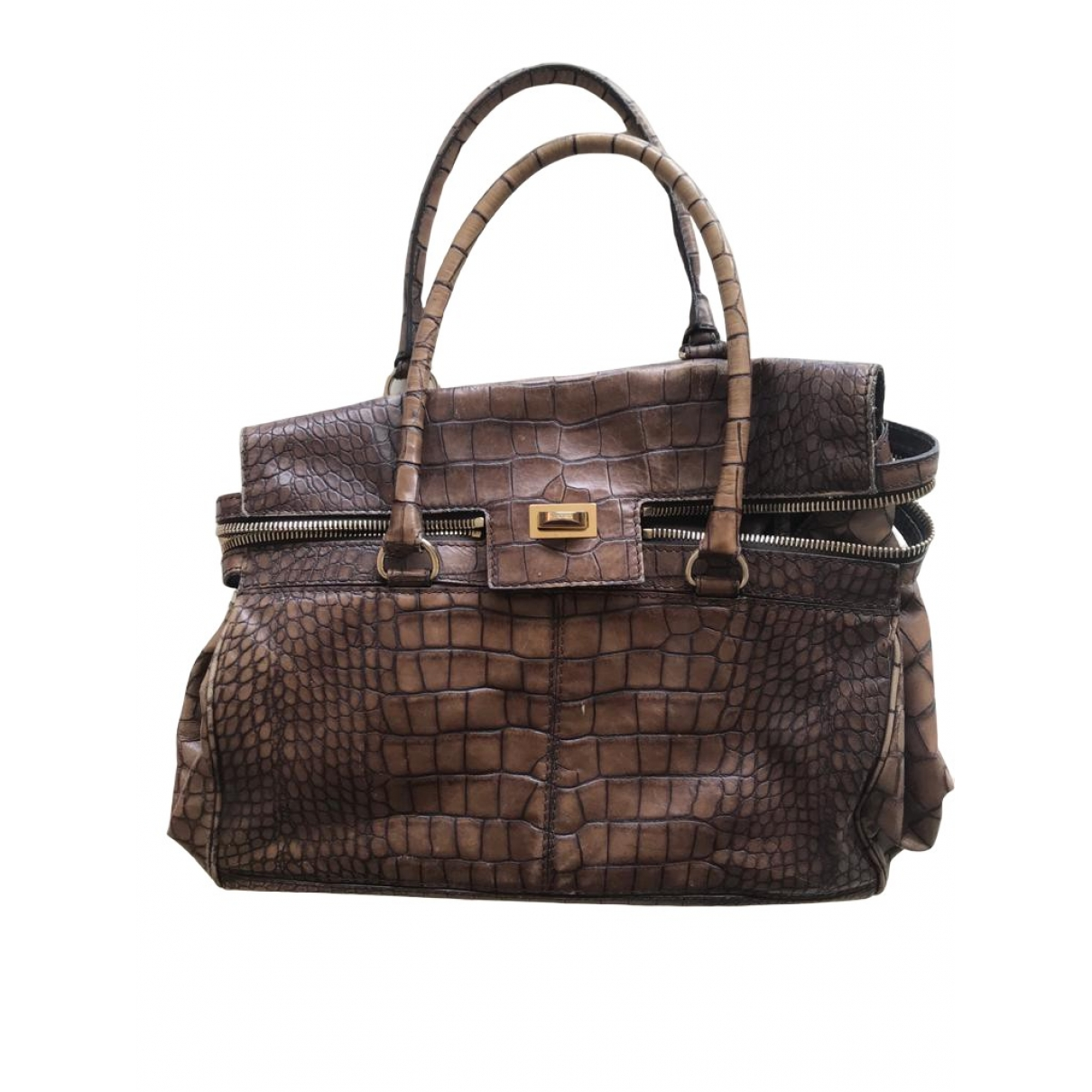Max Mara \N Handtasche in  Braun Leder