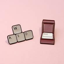 2 Stuecke Brosche mit Tastatur Design