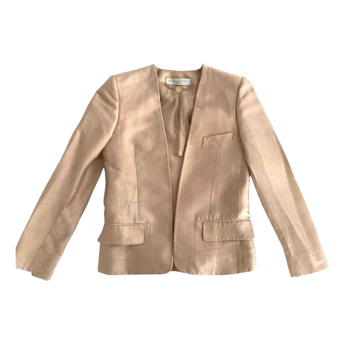 Stella Mccartney - Veste   pour femme en soie - beige