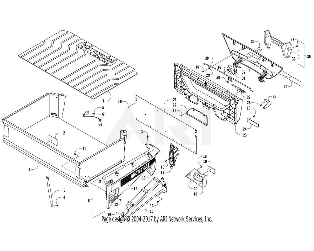 Arctic Cat OEM 3307-479 Latch Rear Storage Lid