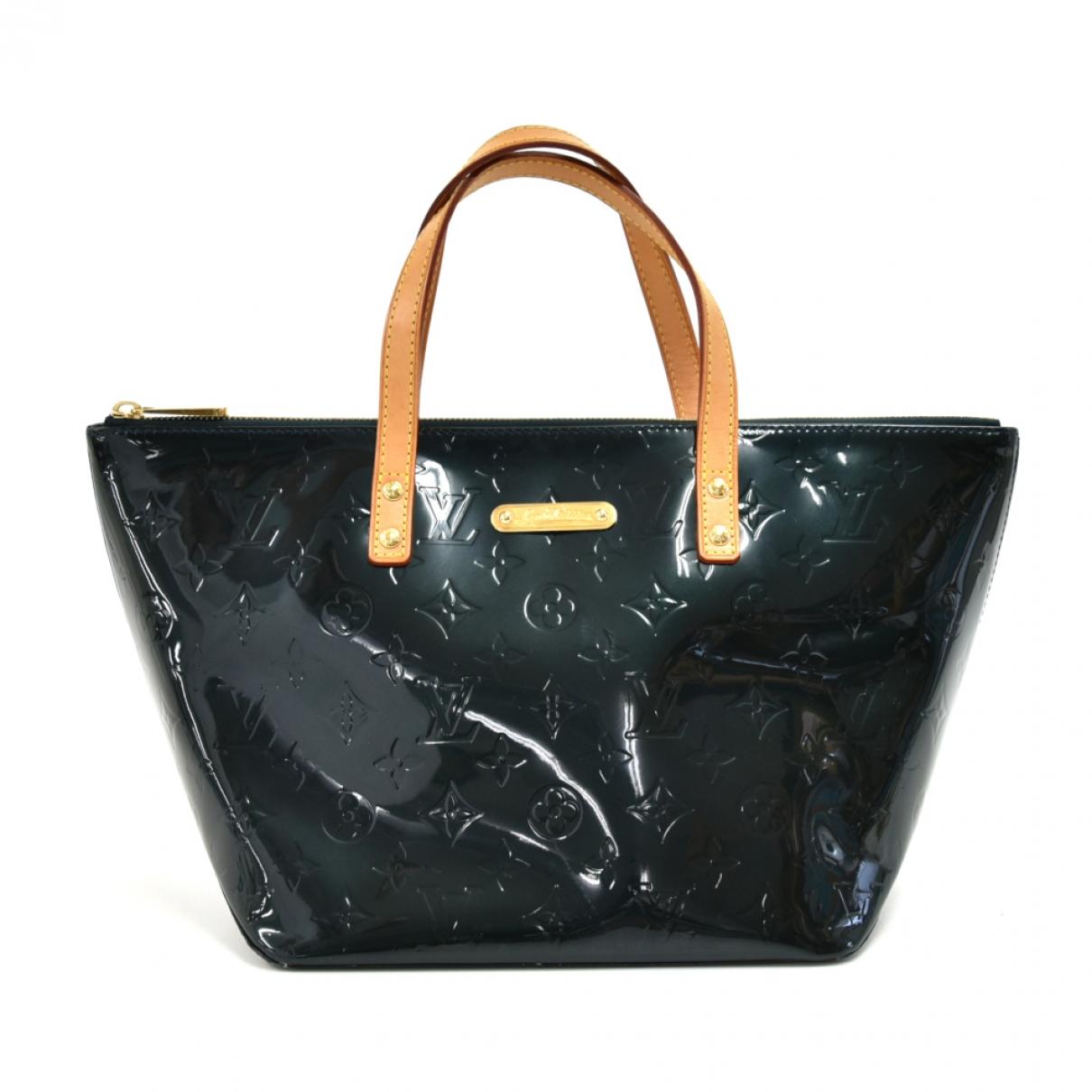 Louis Vuitton - Sac a main Bellevue pour femme en cuir verni - vert
