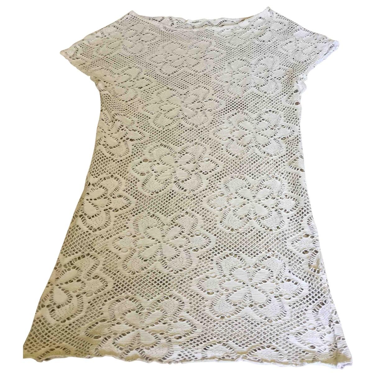 Merci - Robe   pour femme en coton - beige