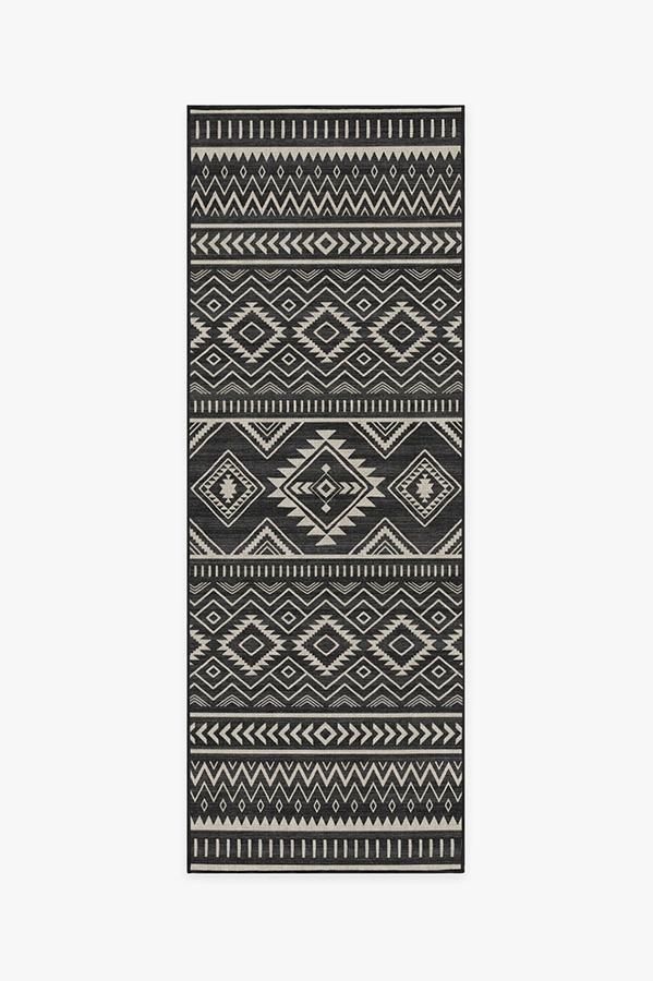 Washable Rug Cover | Arizona Black Rug | Stain-Resistant | Ruggable | 2.5'x7'