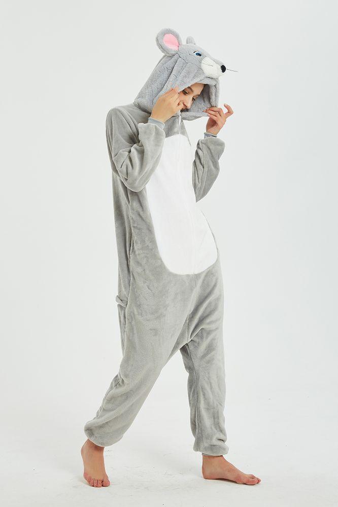 Nouveau Costume de Cosplay Animal Mickey Mouse Kigurumi Onesies pour femmes adultes hiver chaud polaire Festival fete pyjamas en vrac