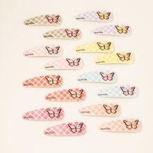 16 Stuecke Kleinkind Maedchen Haarklammer mit Schmetterling Muster