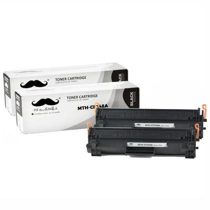 Compatible HP 48A CF248A cartouche de toner noire - Moustache - 2/paquet