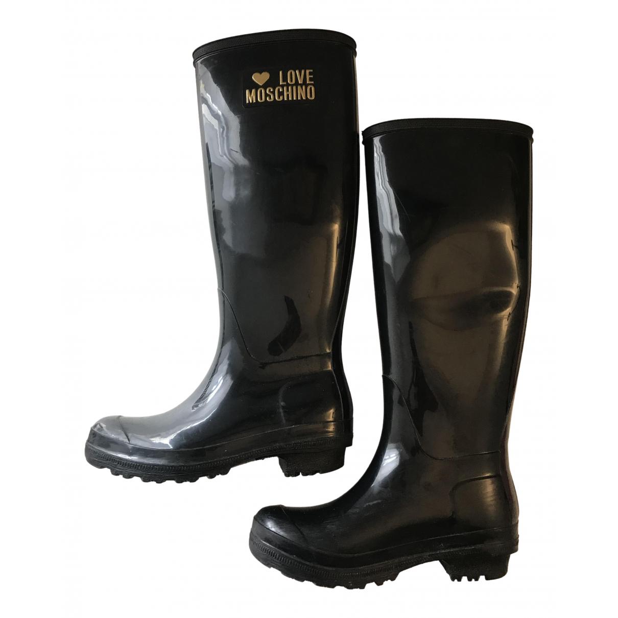 Moschino Love \N Stiefel in  Schwarz Kunststoff