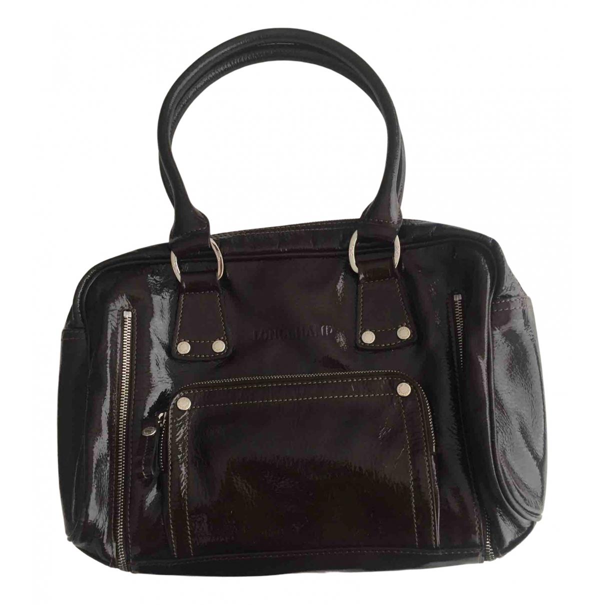 Longchamp - Sac a main Legende pour femme en cuir verni - marron