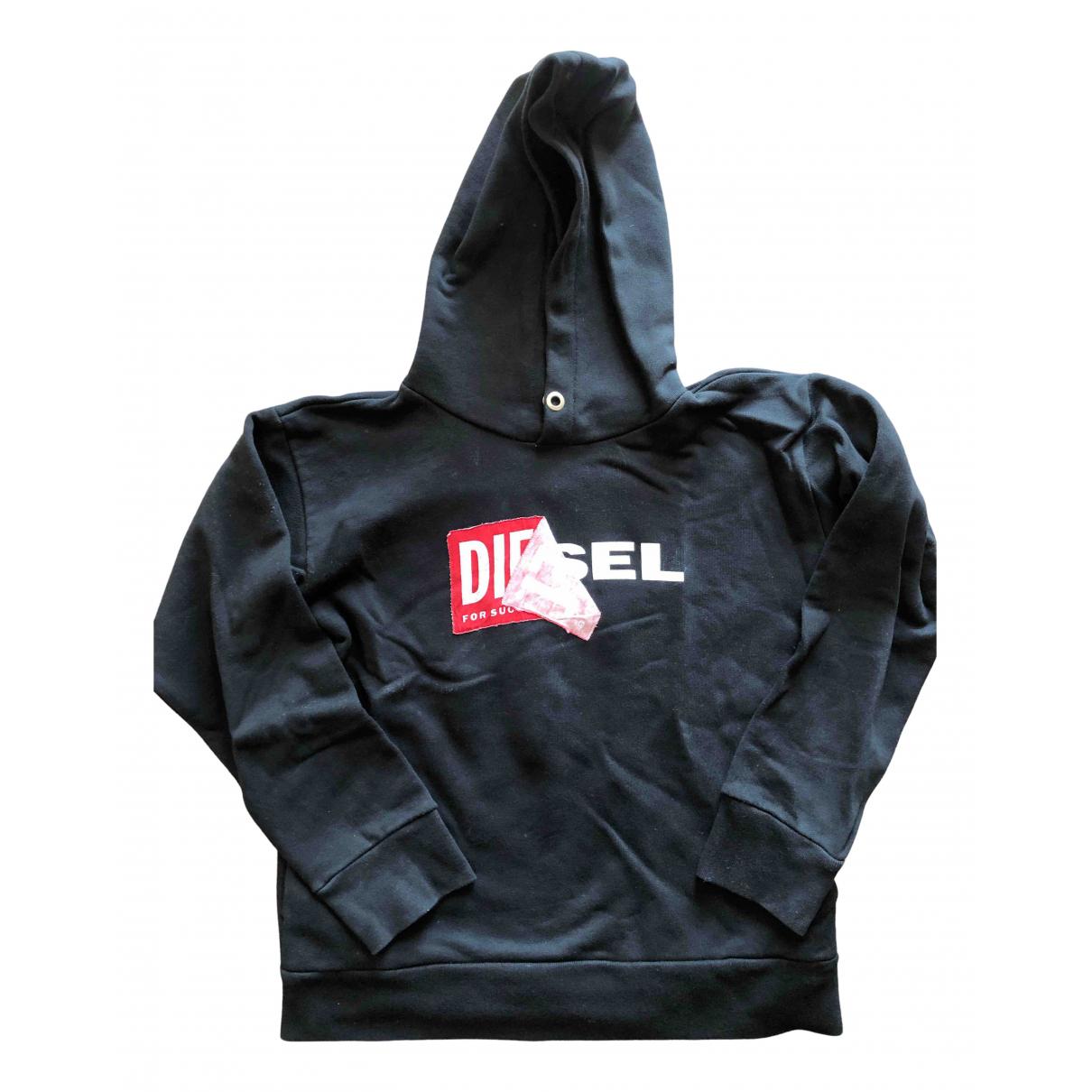 Diesel - Pull   pour enfant en coton - noir