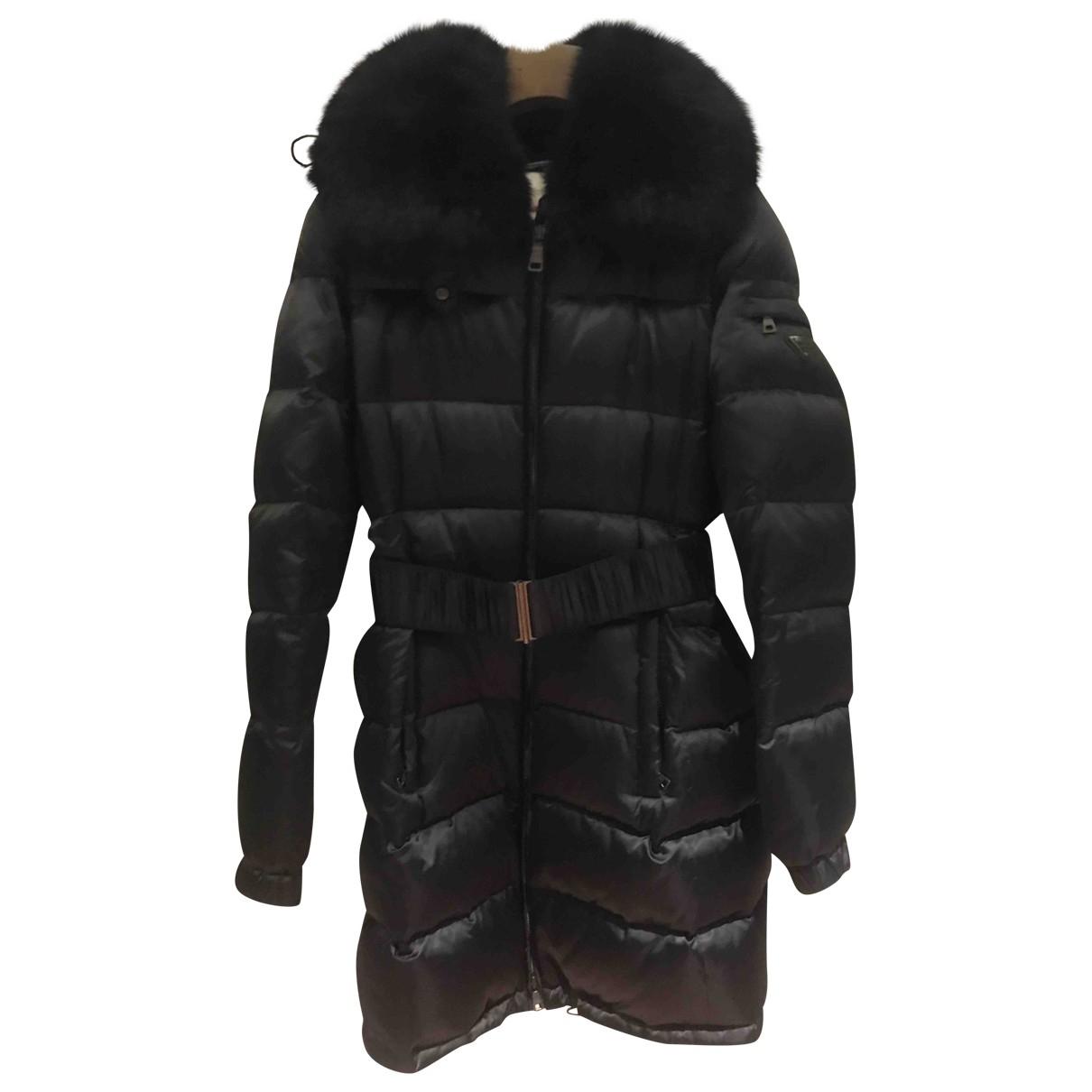 Prada \N Black Fur coat for Women 40 IT