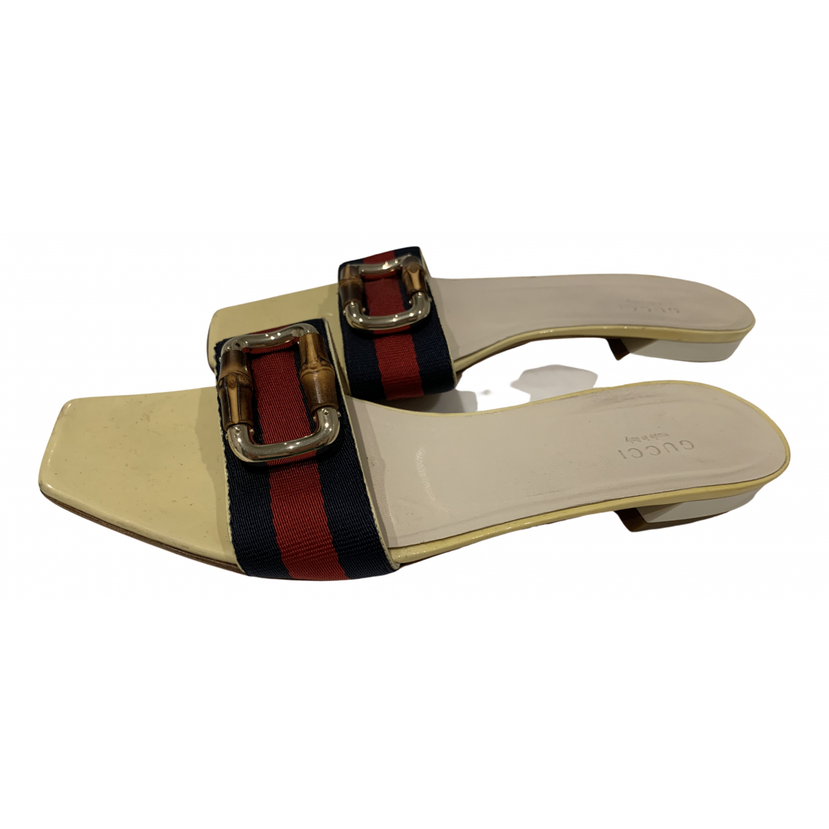 Gucci \N Beige Leather Sandals for Women 39 EU
