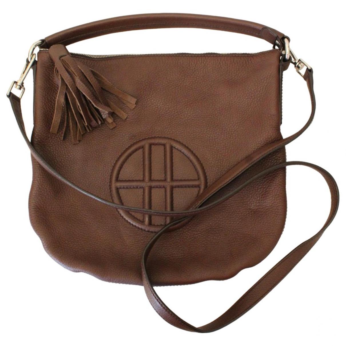 Boss \N Handtasche in  Braun Leder