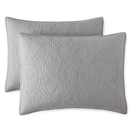 JCPenney Home Emma Pillow Sham, One Size , Gray