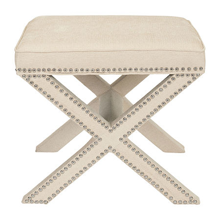 Safavieh Palmer Accent Stool Footstool, One Size , Beige