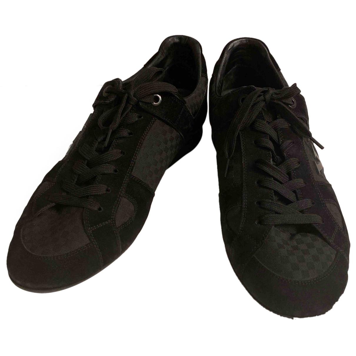 Louis Vuitton - Baskets   pour homme en toile - noir