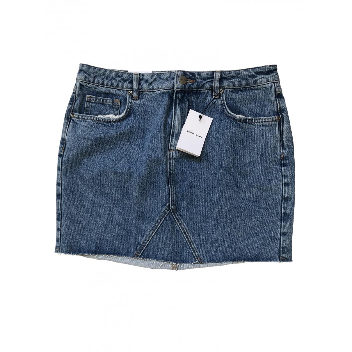 Anine Bing Fall Winter 2019 Blue Denim - Jeans skirt for Women L International
