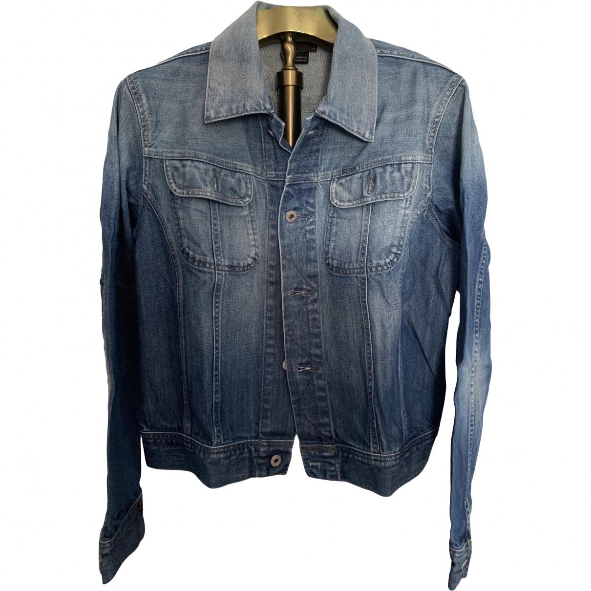 Diesel \N Jacke in  Blau Baumwolle