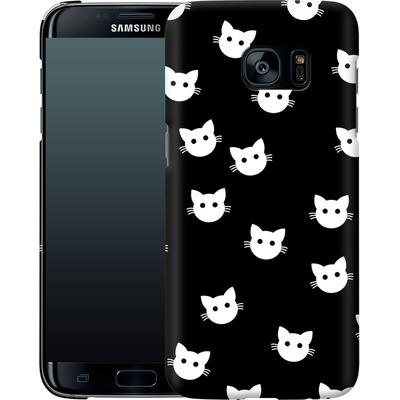 Samsung Galaxy S7 Edge Smartphone Huelle - Cat Pattern von caseable Designs