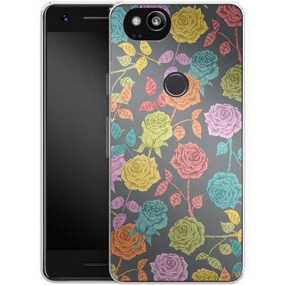 Google Pixel 2 Silikon Handyhuelle - Roses von Bianca Green