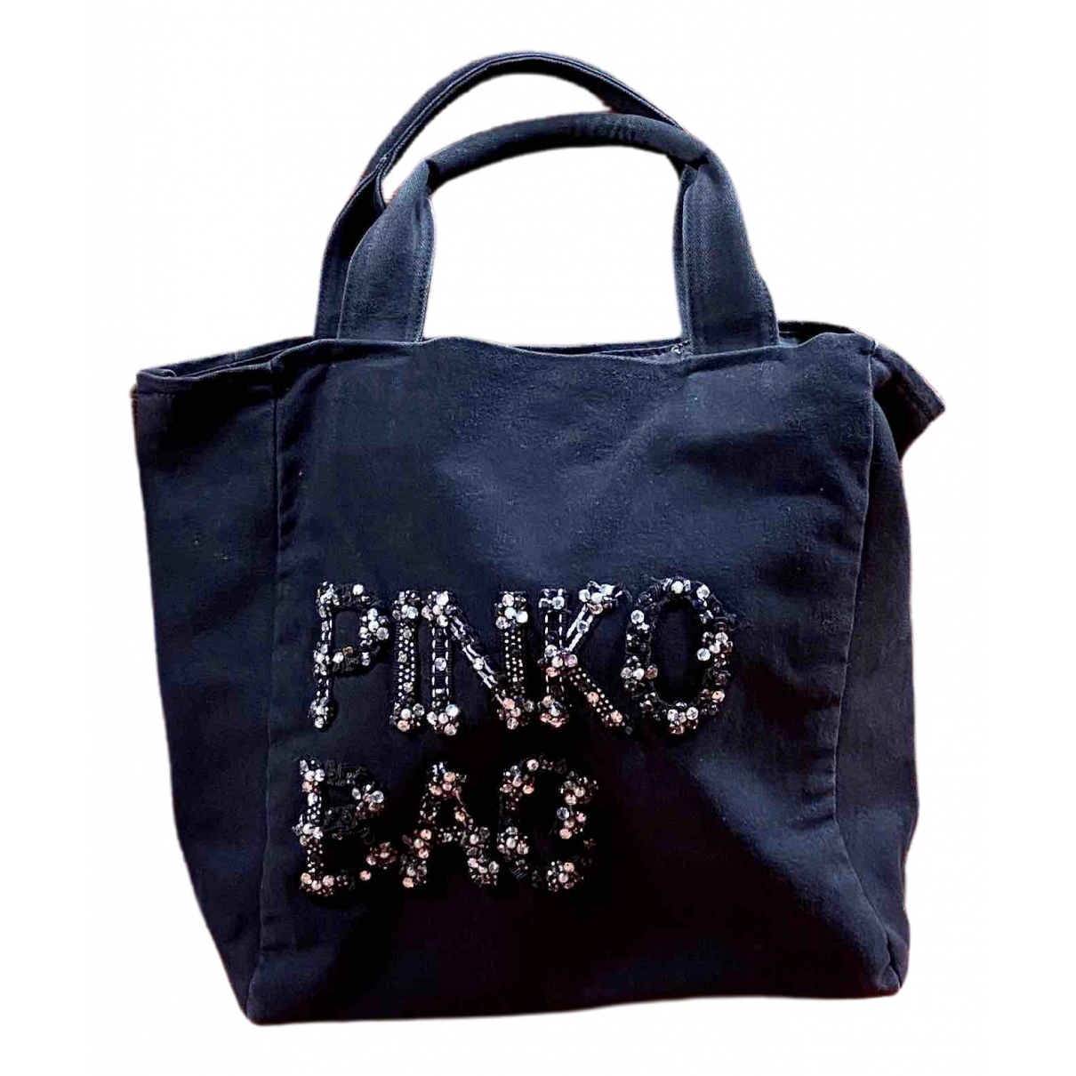 Pinko \N Black Cotton handbag for Women \N