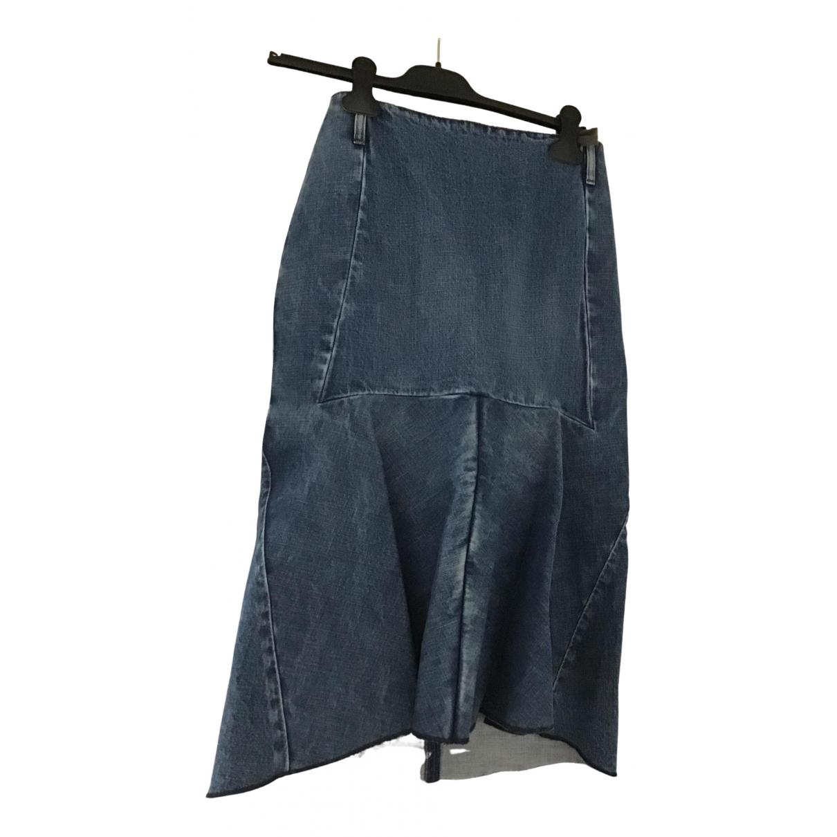 Balenciaga - Jupe   pour femme en denim - bleu