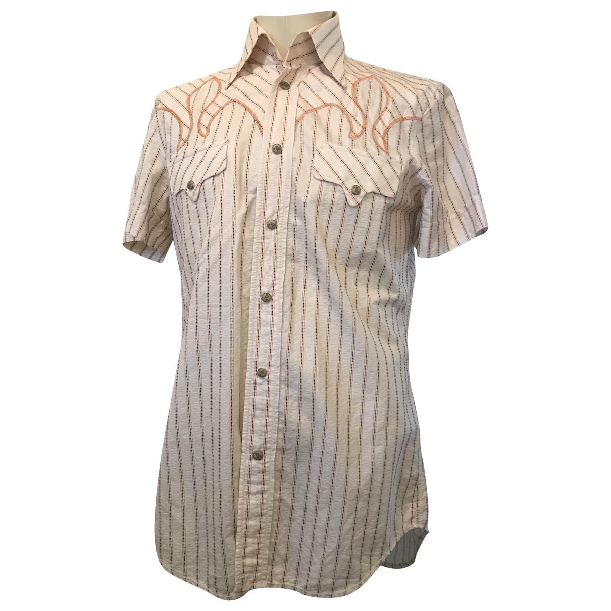 Diesel \N White Cotton Shirts for Men L International