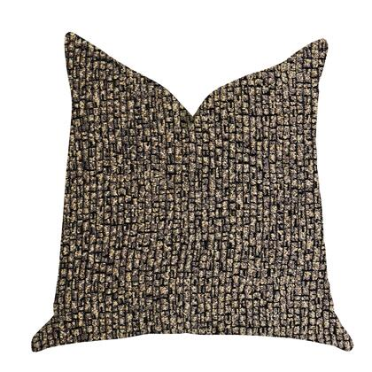 Sandstone Collection PBRA1386-2222-DP Double sided  22 x 22 Plutus Chameleon Bronze and Gold Tone Luxury Throw