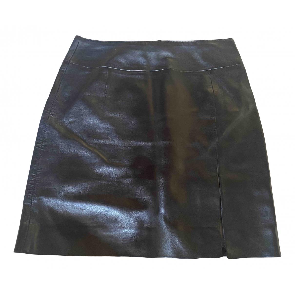 Marc Cain \N Black Leather skirt for Women 36 FR