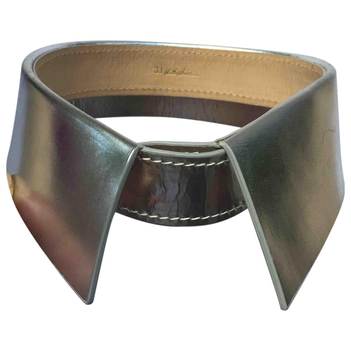 3.1 Phillip Lim - Collier   pour femme en cuir - argente