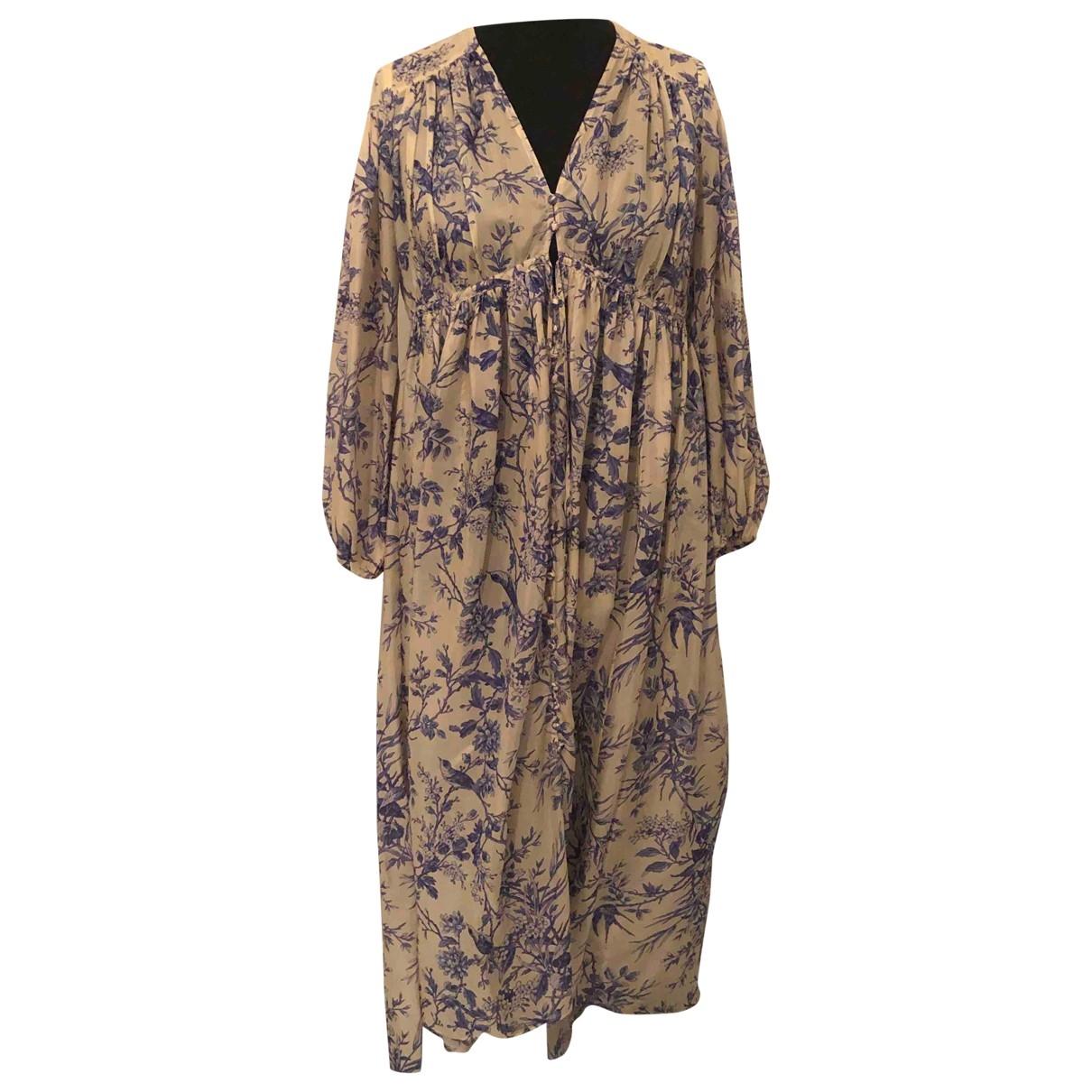 Zimmermann - Robe   pour femme en soie - bleu