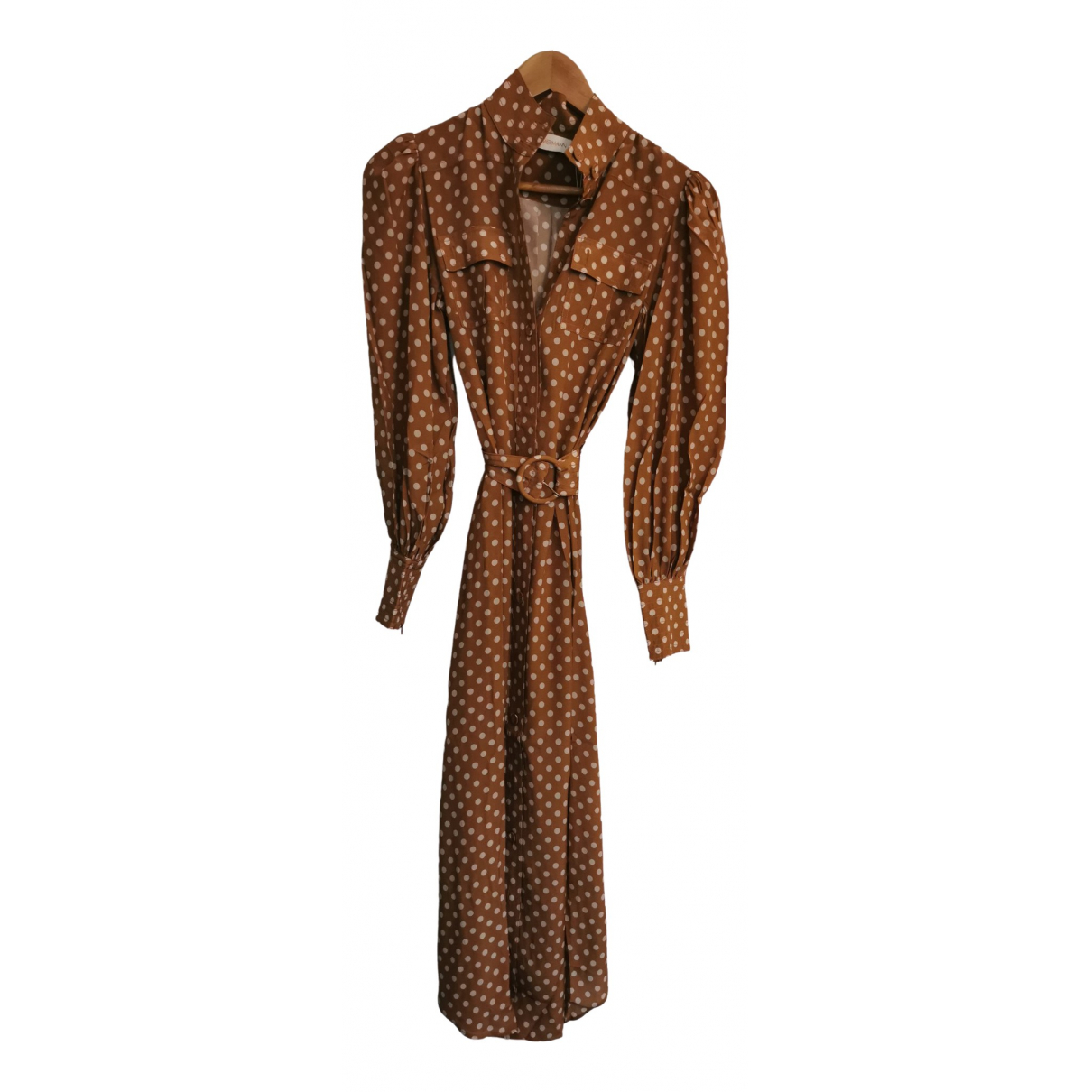 Zimmermann \N Brown Silk dress for Women 0 0-5
