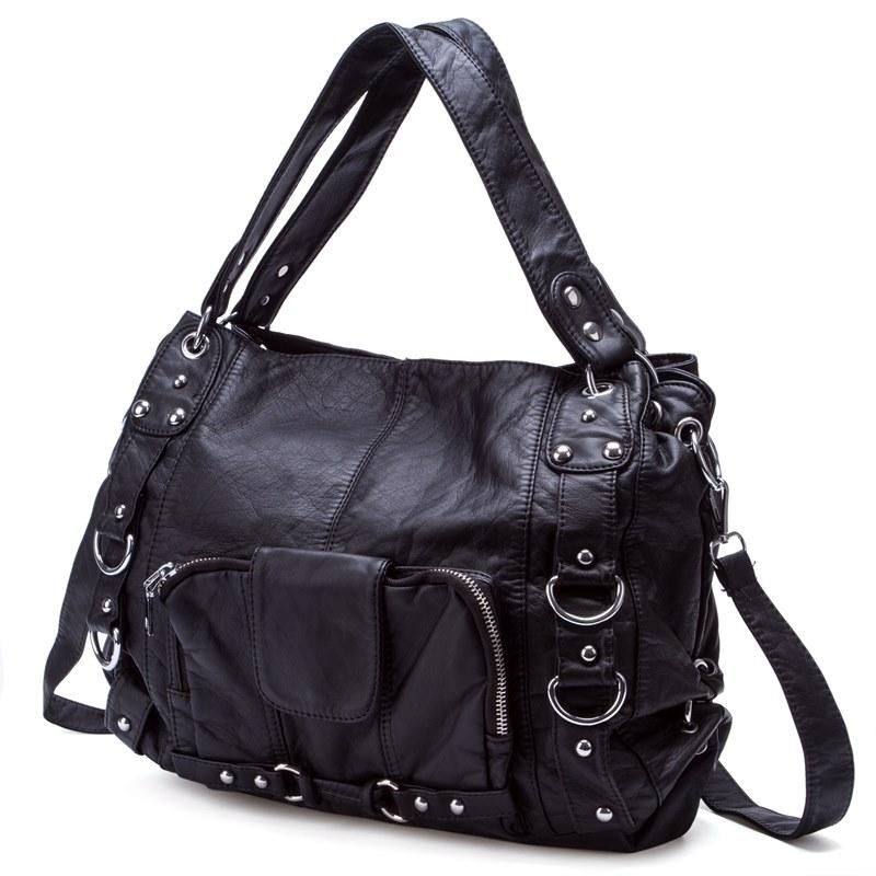 Ericdress PU European Plain Shoulder Bags