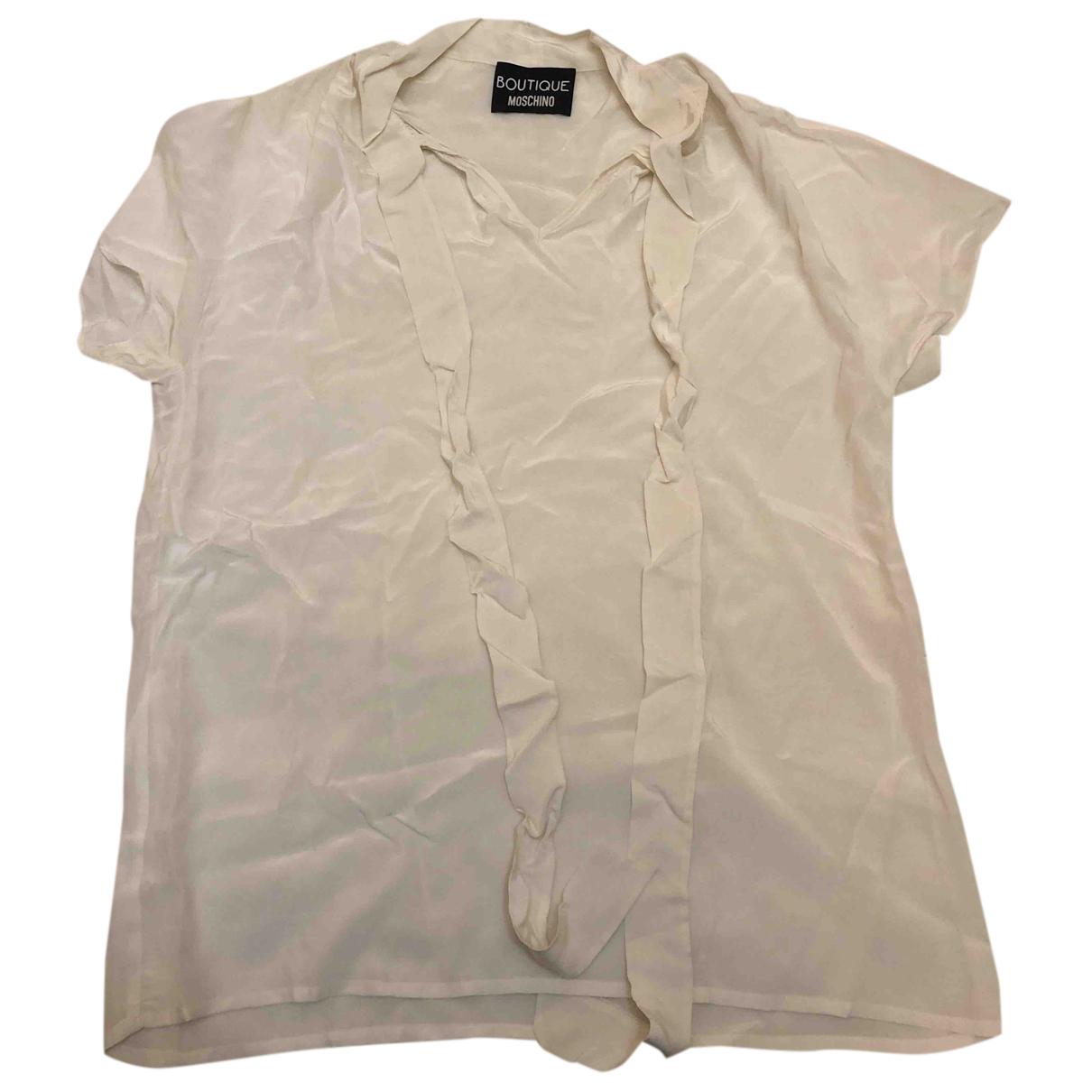 Moschino - Top   pour femme en soie - blanc