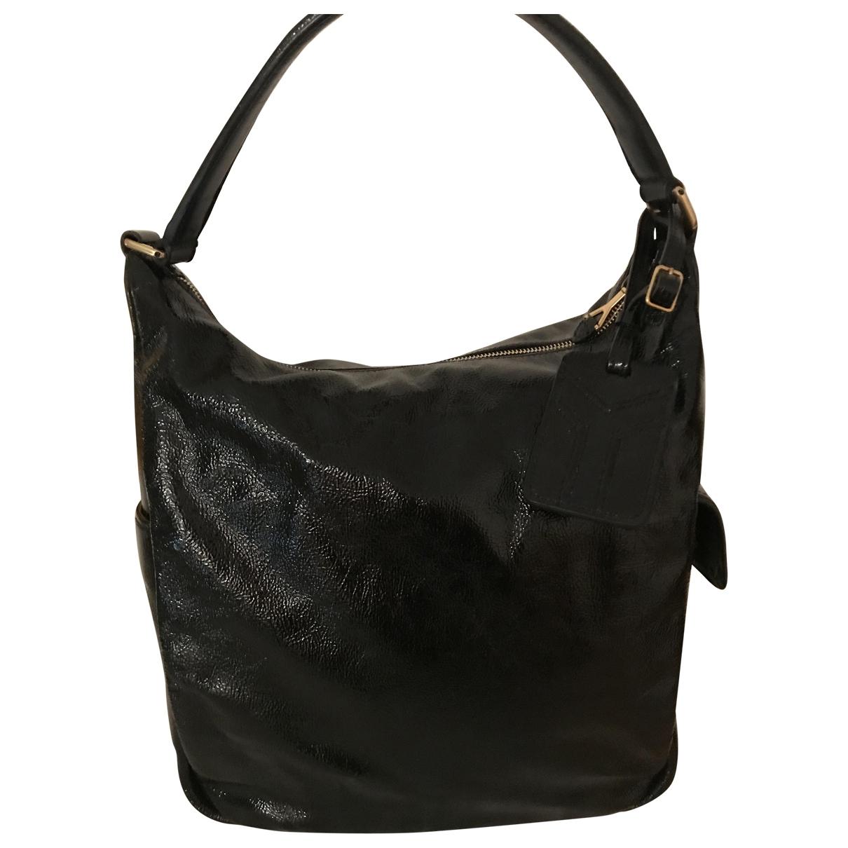 Yves Saint Laurent Easy Handtasche in  Schwarz Leder