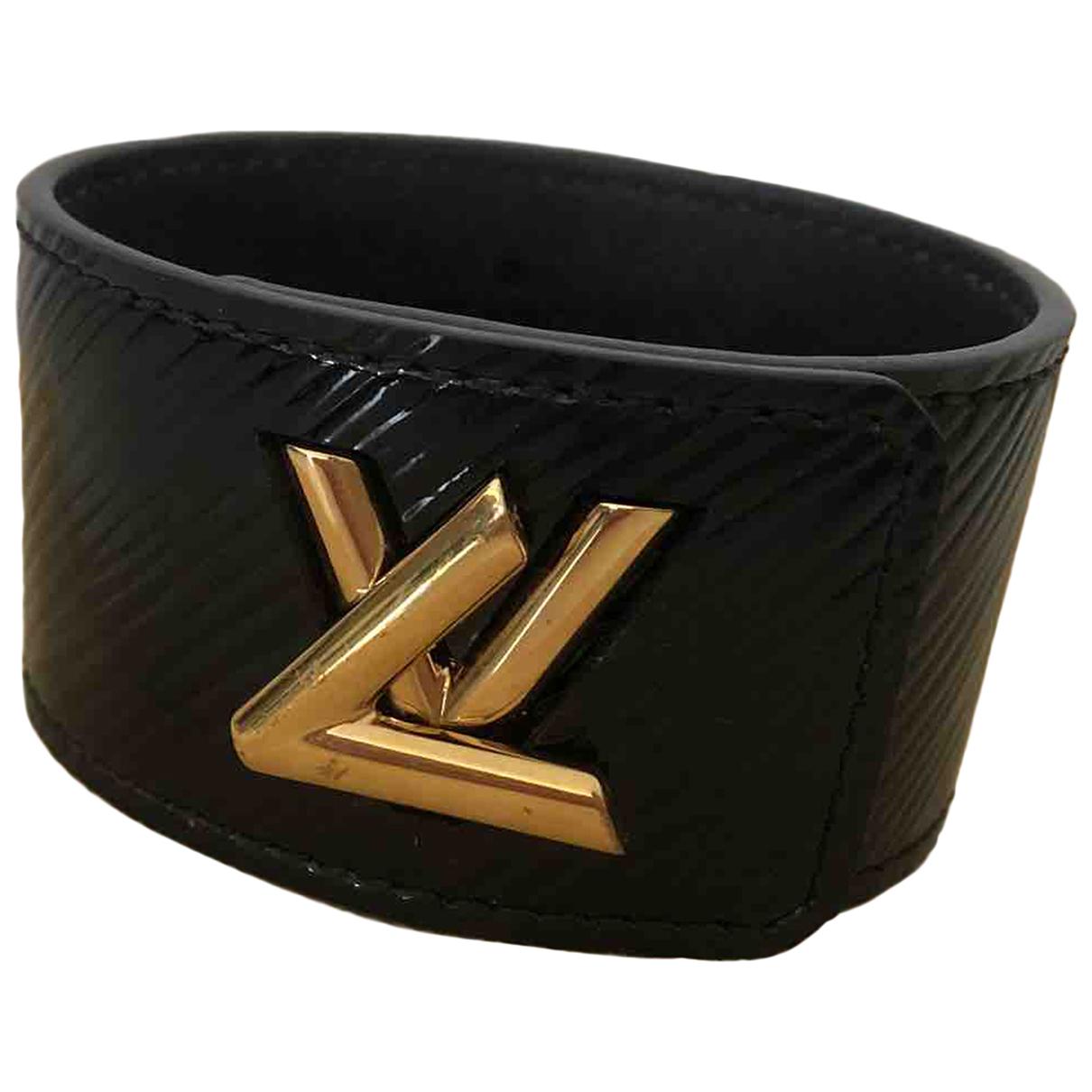 Louis Vuitton Twist Black Patent leather bracelet for Women N