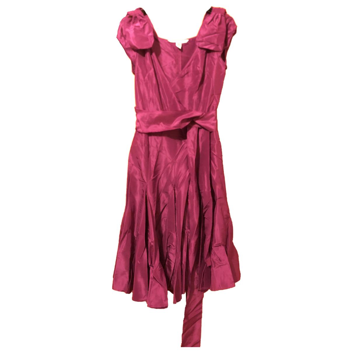 Diane Von Furstenberg \N Kleid in  Lila Seide