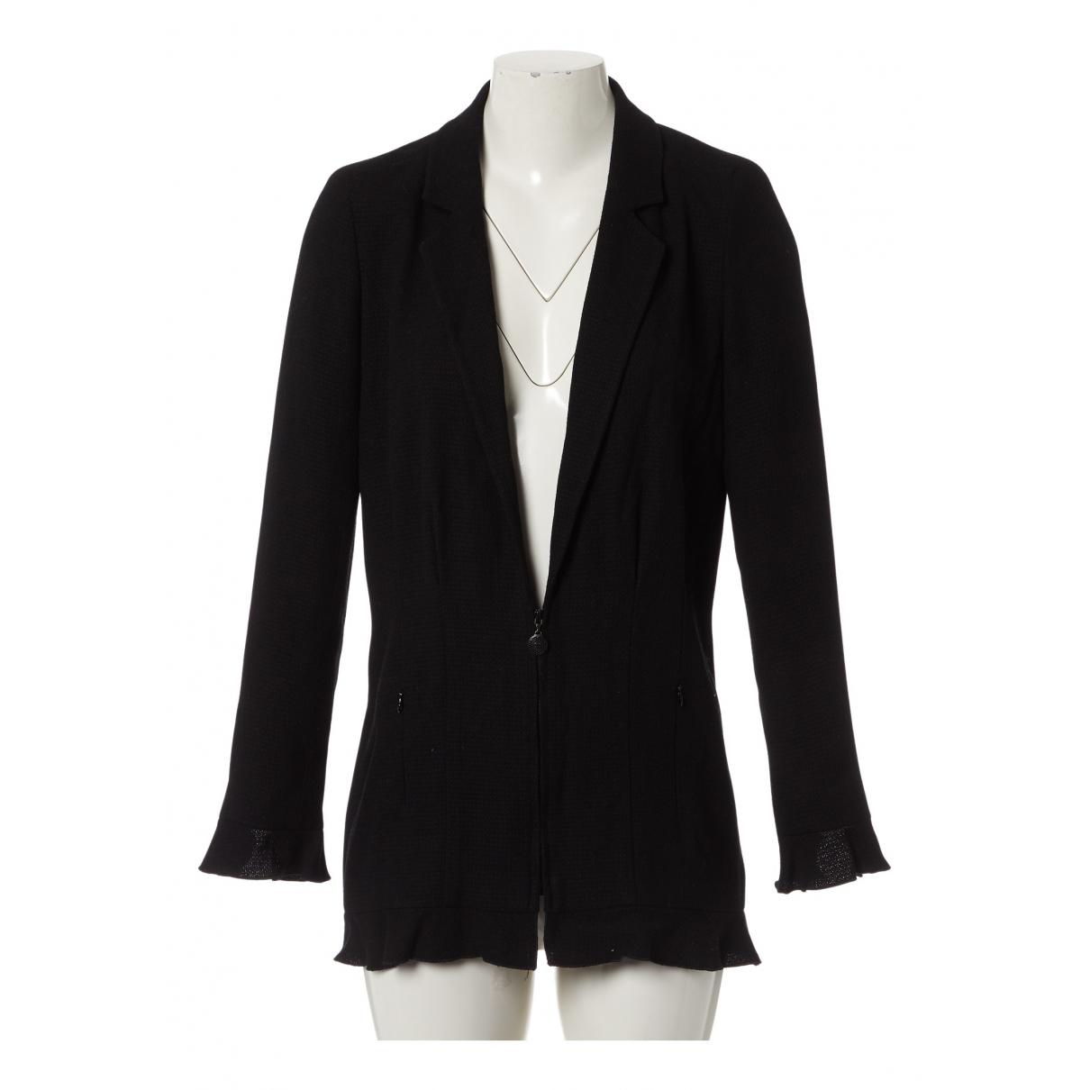Chanel N Black Wool jacket for Women 38 FR