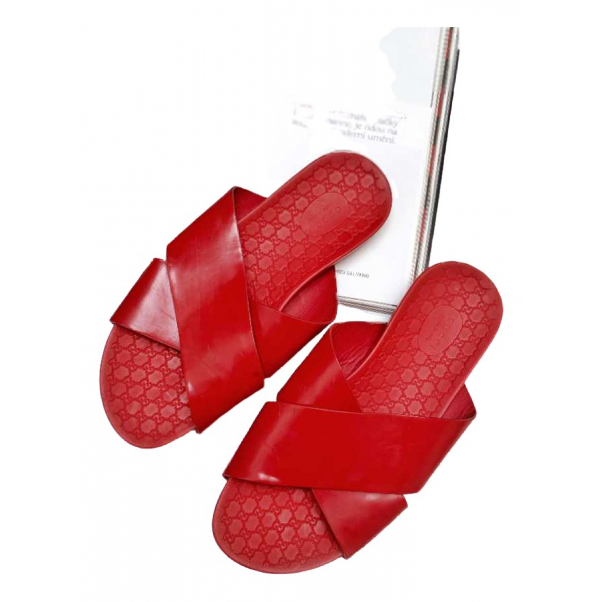 Gucci \N Sandalen in  Rot Lackleder
