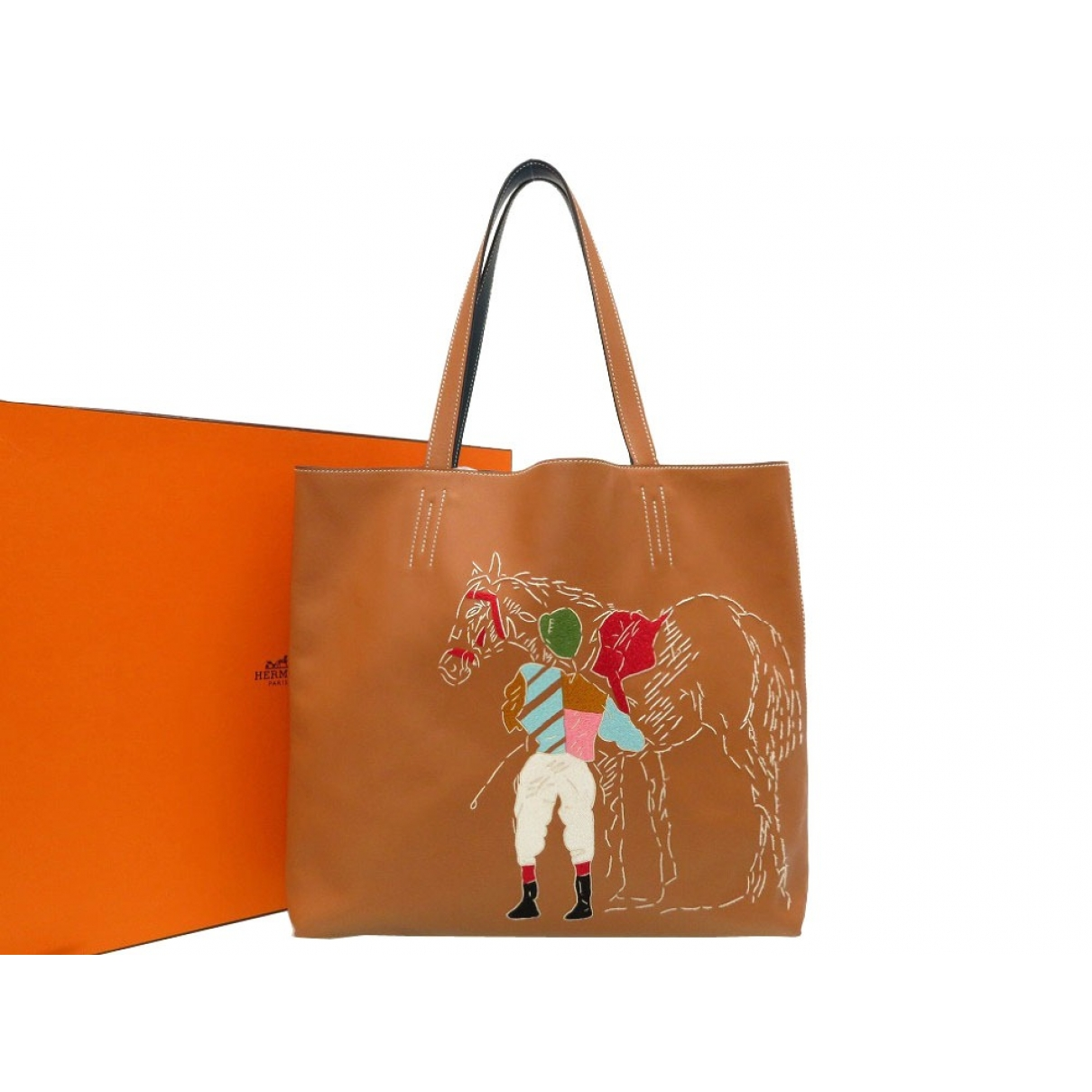 Hermes \N Handtasche in  Braun Leder