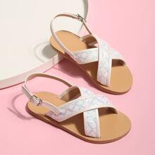 Toddler Girls Criss Cross Slingback Sandals