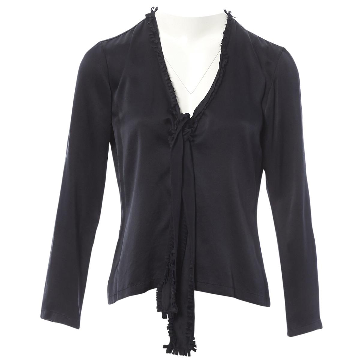 Yves Saint Laurent - Top   pour femme en soie - noir