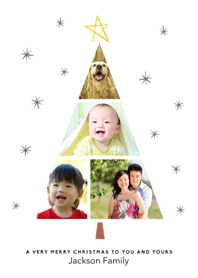 Christmas Photo Cards Mail-for-Me Premium 5x7 Folded Card , Card & Stationery -Christmas Family Tree