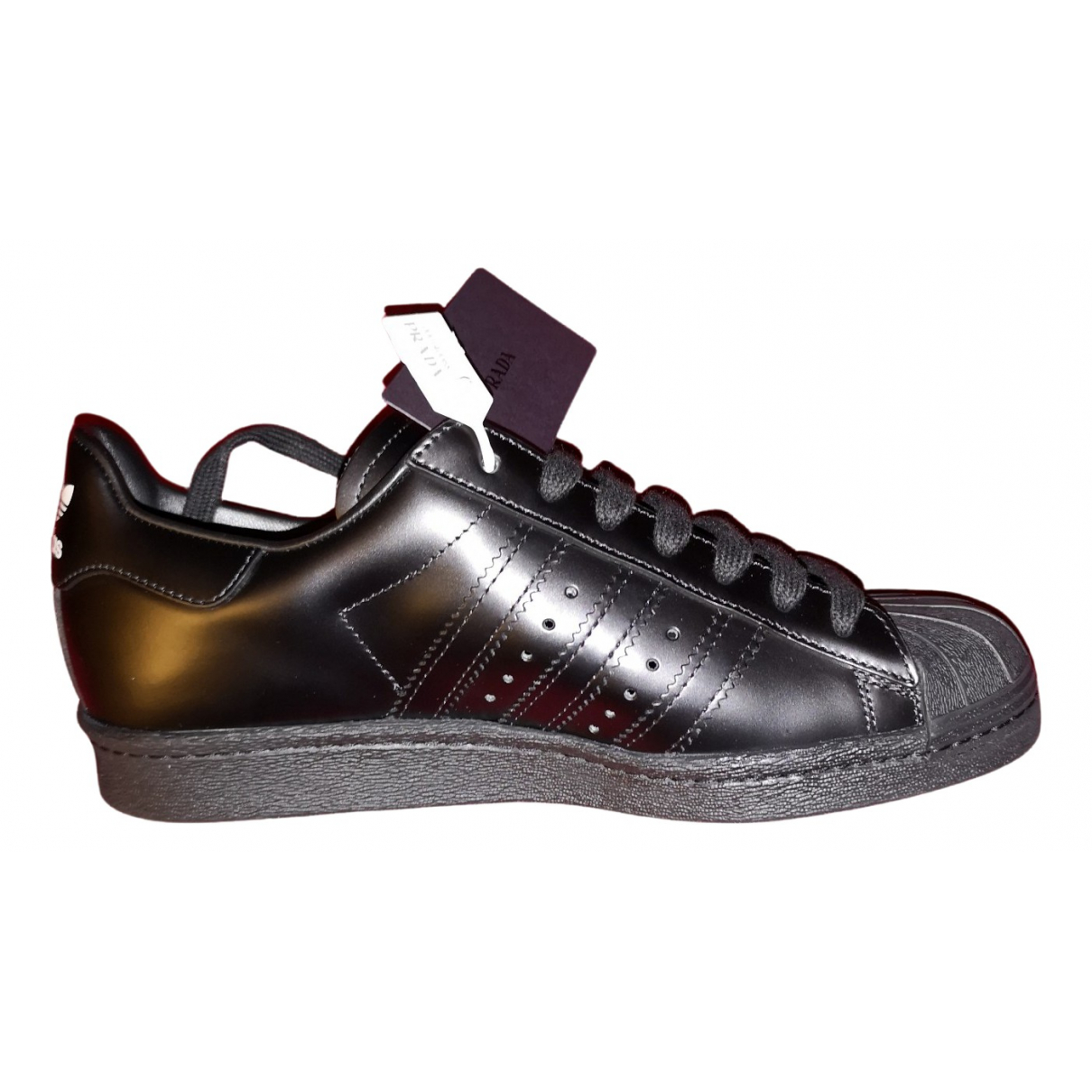 Prada X Adidas \N Black Leather Trainers for Men 6 US
