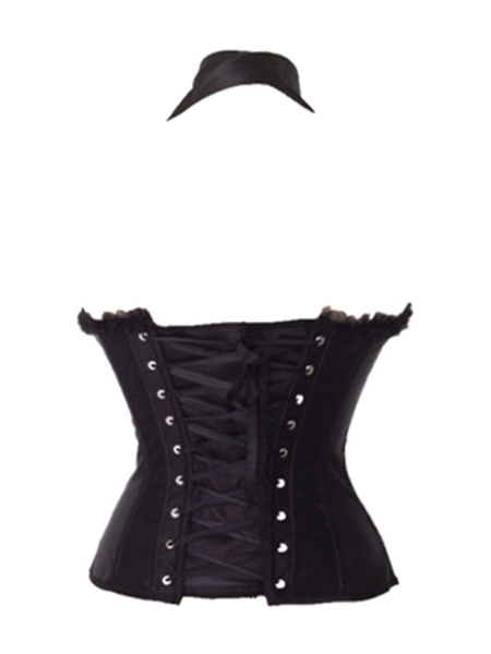 Milanoo Top Selling Halter Shaping Overbust Corsets With Bow Decor