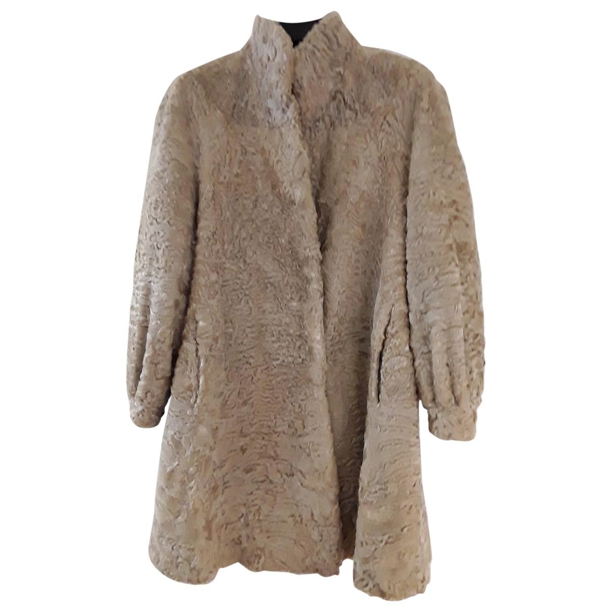 - Manteau   pour femme en agneau de mongolie - beige