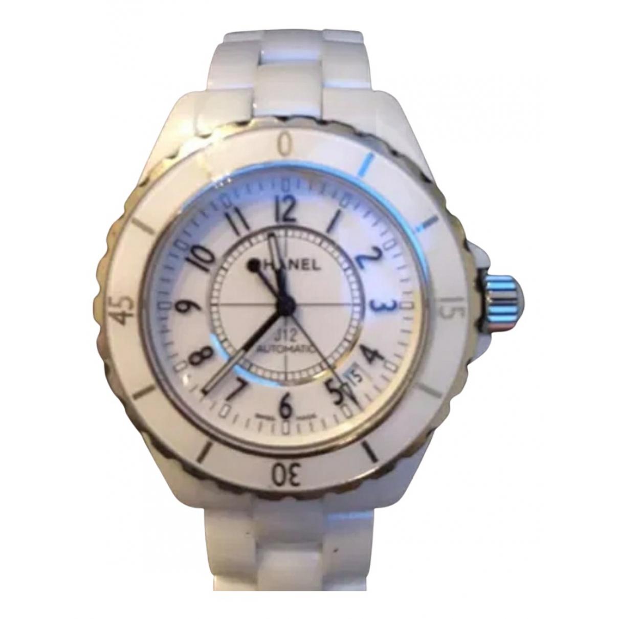 Chanel J12 Automatique Uhr in  Weiss Keramik